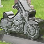 "Stock #102 Harley monument 42"" x 8"" x 28"" base 52"" x 14"" x 8"""