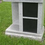 "Stock #50 2 cremation niches 28"" x 16"" x 33"""