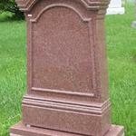"Stock #131  India Red old style monument 24"" x 8"" x 42"" base 32"" x 14"" x 8"""