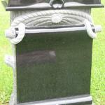 "Stock #135 monument 30"" x 10"" x 42"" jet black book top"