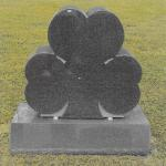"Stock #133 Evergreen Shamrock monument 30"" x 8"" x 28"" base 36"" x 14"" x 8"""
